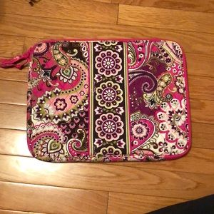 Vera Bradley Laptop Sleeve in Very Berry Paisley